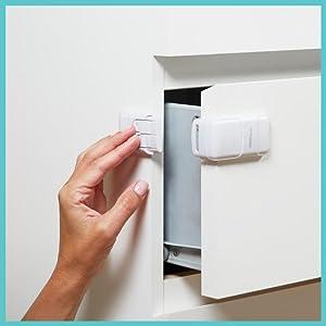 corner drawer locks