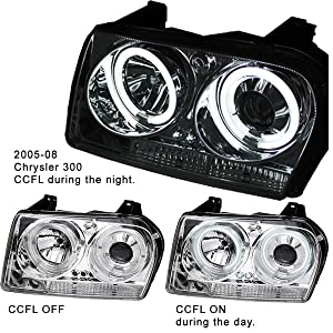 Chrysler 300 CCFL 2005 2006 2007 2008 Head Lights Custom Aftermarket