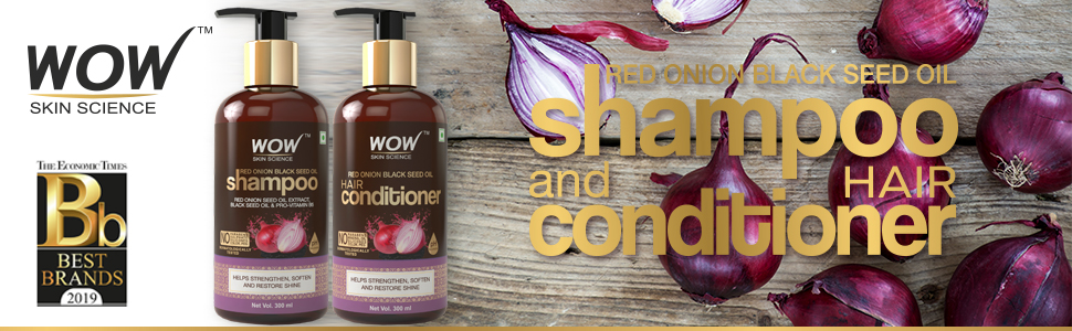 WOW SKIN SCIENCE RED ONION BLACK SEED OIL SHAMPOO & CONDITIONER