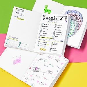 BIC My Message Kit Fabulous Juego de Escritorio con 1 BIC/4 colores Bol/ígrafo 1 Libreta Tama/ño A6 Blanca Pack de 3 Amarillo 1 BIC Highlighter Grip Bol/ígrafo