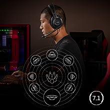 HyperX virtual 7.1 surround sound