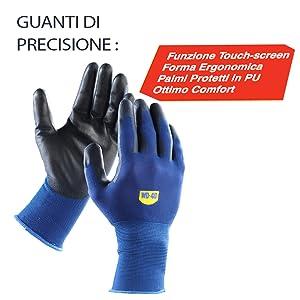 guanti di precisione touch screen, wd 40,