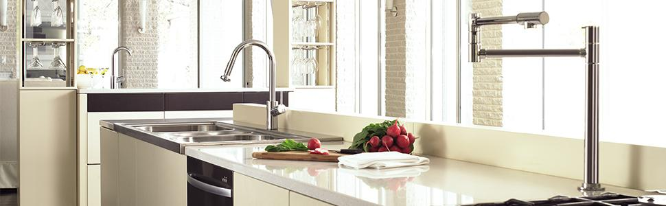 Hg Talis S Single Hole Kitchen Touch On Kitchen Sink Faucets