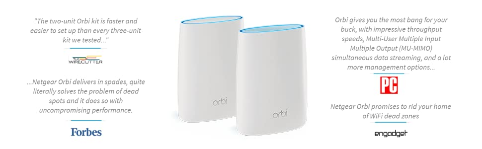 Netgear Orbi High Performance Ac3000 Tri Band Wifi System