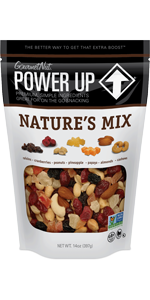 Power Up, Trail Mix, Nature's Mix