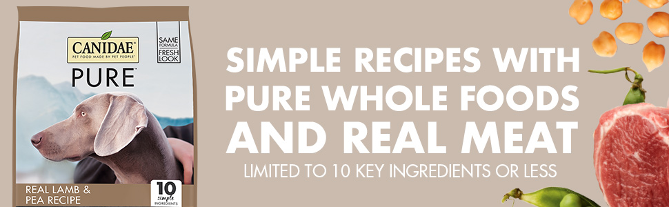 Pure grain free limited ingredient real meat lamb