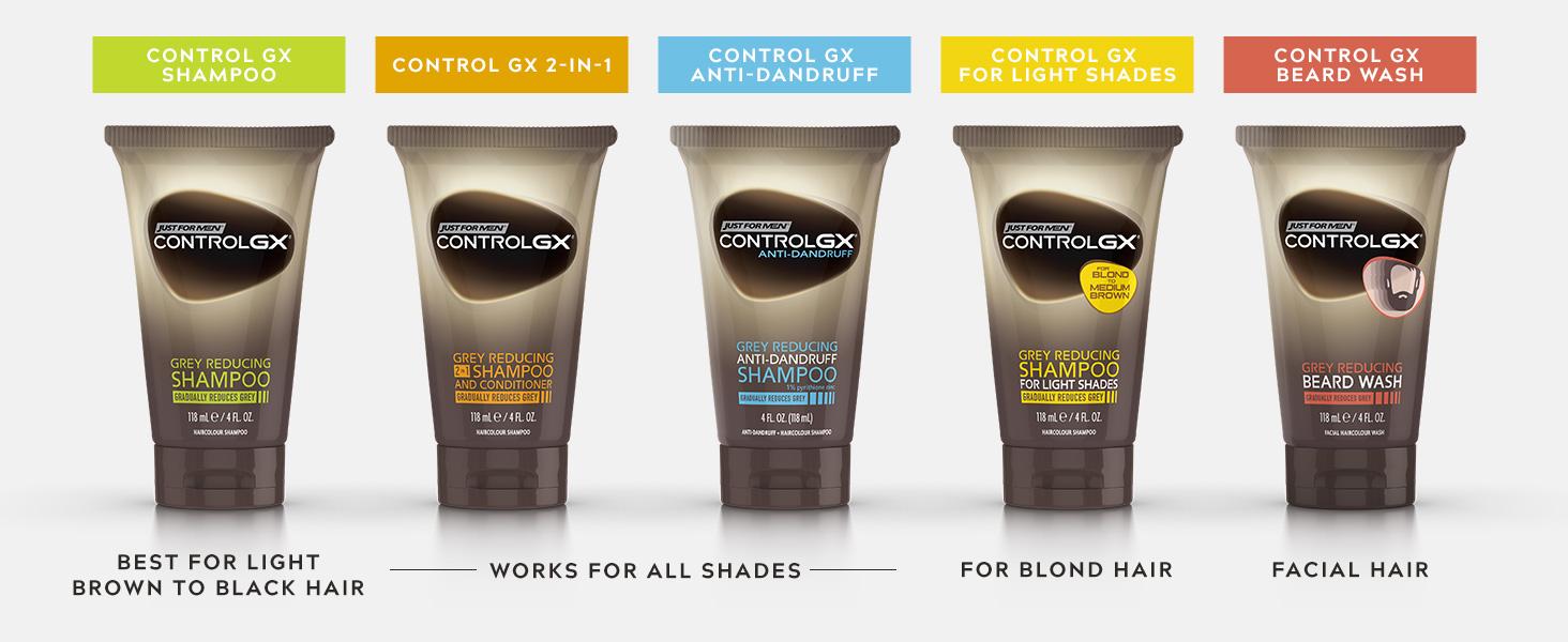Choose your shampoo preference: Regular, 2-in-1, Anti-Dandruff, Light Shades, Beard Wash