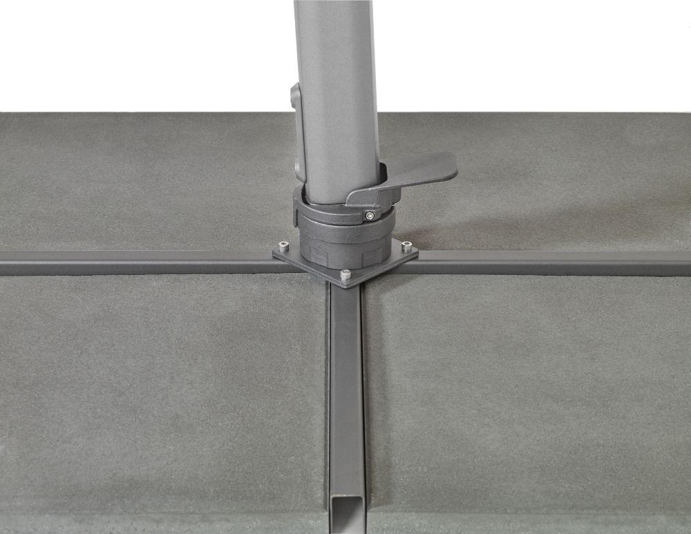 suncomfort by glatz varioflex off grey 300x300 cm quadratisch gestell aluminium. Black Bedroom Furniture Sets. Home Design Ideas