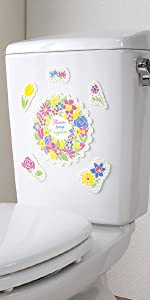 サンコー 貼ってはがせる 臭いとり アレンジできる おくだけ吸着 吸着トイレの消臭シート リースフラワー KP-09 KP-09