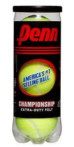Penn Tennis Balls Extra Duty 45 Balls Renewed 15 Can Case