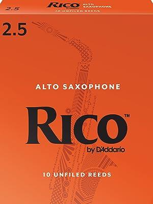 alto sax, saxophone reeds, rico