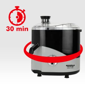 Maharaja Whiteline Odacio Plus 550-Watt Juicer Mixer Grinder with 3 Jars (Black/Silver) SPN-FOR1