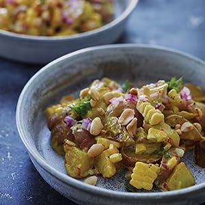 corn, curry, potato salad, vegenaise, recipe, cookbook