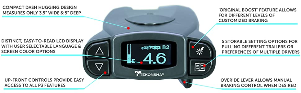 Tekonsha 90195 P3 Electronic Brake Control  Brake Controls