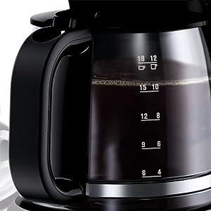 AEG KF3300 Cafetera Serie 3 de 12 Tazas, Jarra de Cristal con ...