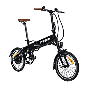 Moma Bikes Bicicleta Electrica, Plegable, Urbana E-16 TEEN, Aluminio, Bat. Ion Litio 36V 9Ah: Amazon.es: Hogar