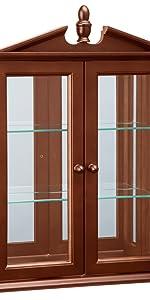 amesbury manor curio cabinet, home furnishings,  display cabinet, curio cabinet, curio cabinets