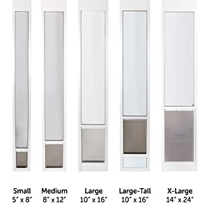 Petsafe Sliding Glass Pet Door 76 13 16 Quot To 81 Inch White