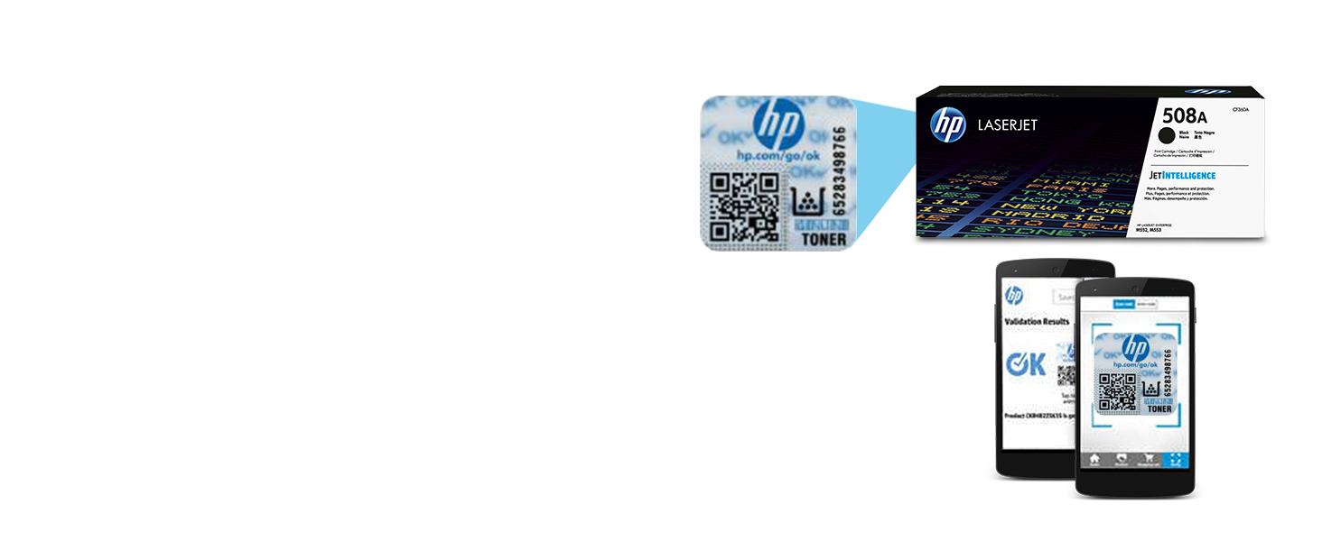 HP 508A (CF360A) Black Toner Cartridge for HP Color LaserJet Enterprise  M577 M553