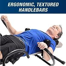 ergonomic, textured handlebars