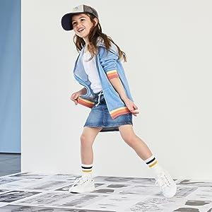 Crew Kick 75 sneaker for girls
