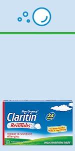 Claritin Non-Drowsy Allergy RediTabs dissolve tabs allergy dissolve pills Claritan RediTabs