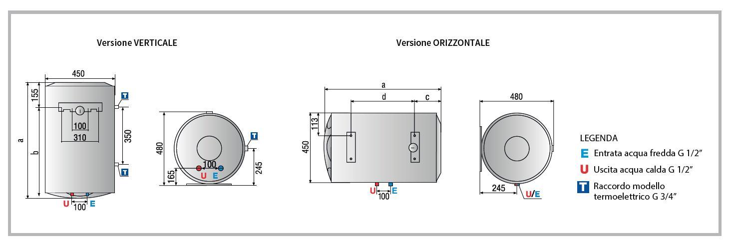 Ariston 3200811 scaldabagno elettrico 80 litri - Scaldabagno elettrico 50 litri classe a ...