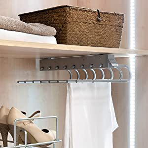 Schals Krawatten LHY SAVE Hosenauszug F/ür Kleiderschrank Multifunktion Hosenb/ügel Ausziehbarer Hosenhalter Abnehmbare Auszugsschiene F/ür 18 Hosen R/öcke