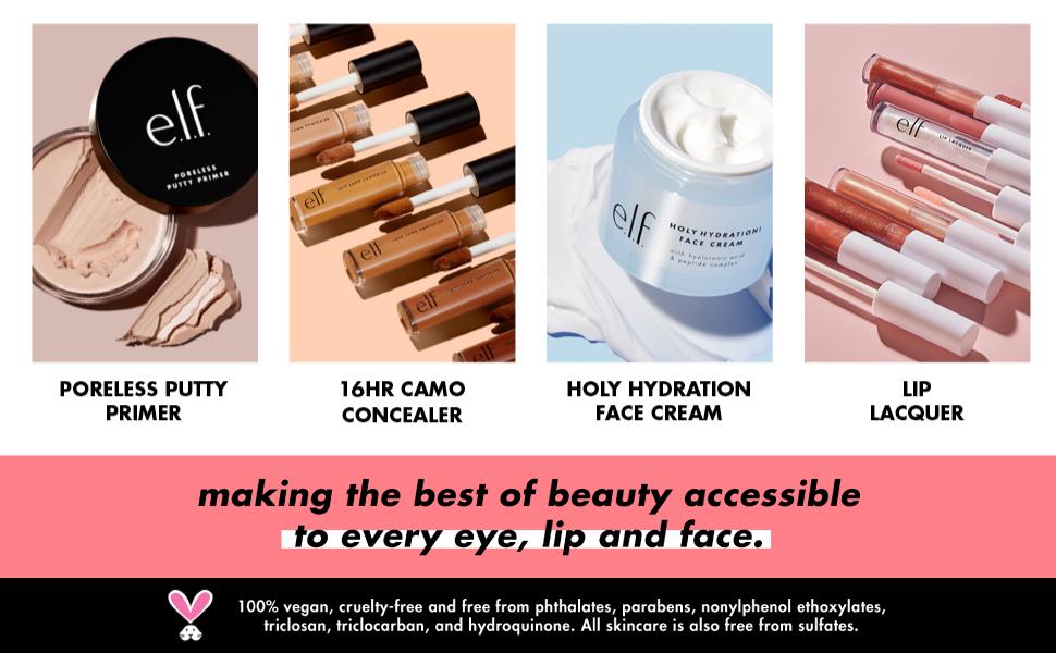 e.l.f., e.l.f. cosmetics, elf cosmetics, elf makeup, e.l.f. makeup