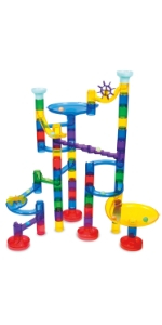 Galt Glow Super Marble Run, Construction Kit for Kids