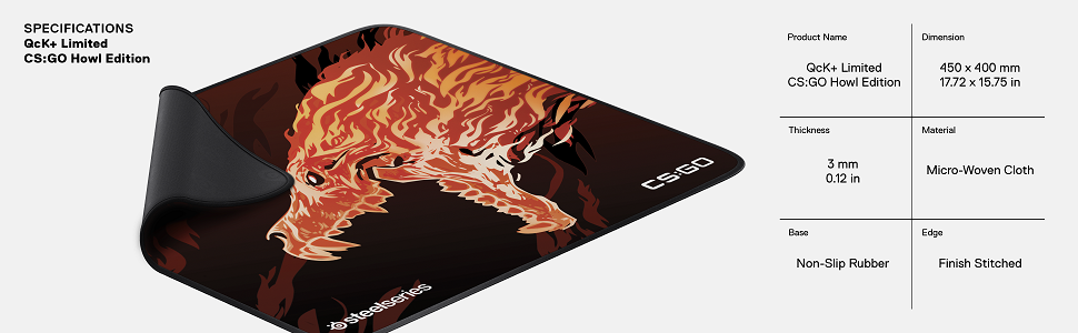 SteelSeries QcK+ Howl Editiong Gaming Mousepad