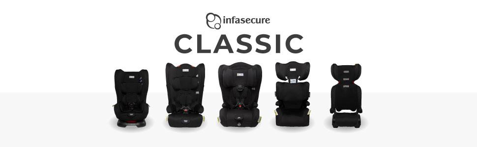 infasecure infa secure classic car seat range
