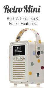 VQ, View Quest, DAB, Digital Radio, Bluetooth Speaker, Retro Radio, Kitchen Radio, Retro Mini