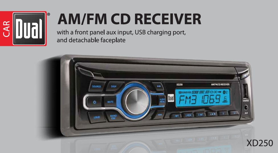 amazon com dual electronics xd250 multimedia detachable lcd single rh amazon com Dual XD 250 CD Player Dual XD250 Specs