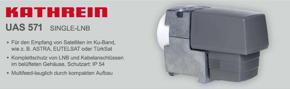 Kathrein Uas 571 Single Lnb Multifeed Tauglich Für 1 Elektronik