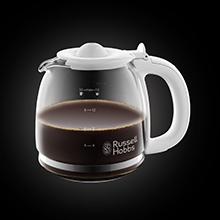 Digitale Glas-Kaffeemaschine Inspire White