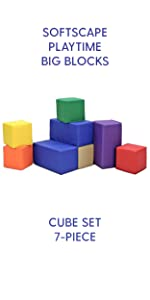 fdp, factory direct partners, blocks, set, toddler, playtime, soft, foam, in-home, softscape, kids