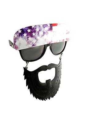 59712cdc691b Sun-Staches American Trucker Costume Sunglasses