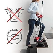 Polti moppy; moppy polti; lavapavimenti a vapore senza filo; pavimenti; parquet; superfici verticali