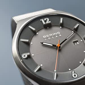 Bering hombre pulsera cristal zafiro reloj delgado Behring Skagen solar diseño cuarzo espesor materi