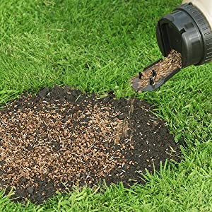 Miracle-Gro Patch Magic grass seed can be used of lawn over-seeding