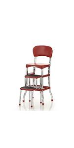 Fine Amazon Com Cosco 11120Red1E Retro Counter Chair Step Stool Uwap Interior Chair Design Uwaporg