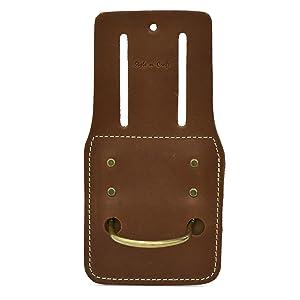 Style n Craft 98438 Hammer/Hatchet Holder in Dark Tan Heavy Top Grain Leather
