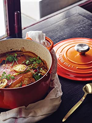 Le Creuset Dutch Oven Shown in Flame
