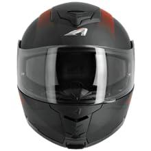 Taille L Astone Helmets RT800-LINE-RGL Casque Moto RT 800 Linetek Rouge//Gris