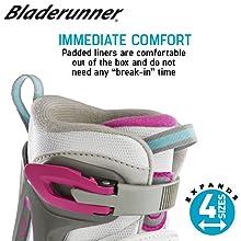 Comfortable kids ice skates