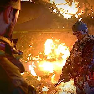 main characters in fiery scene