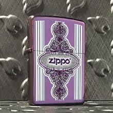 zippo logo lighter, logo lighters, color image, abyss lighter, purple zippo lighter, zippo