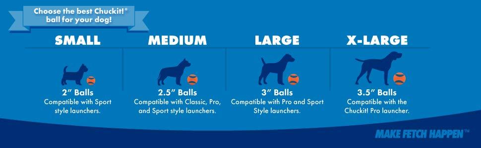 Chuckit Ball Size Banner