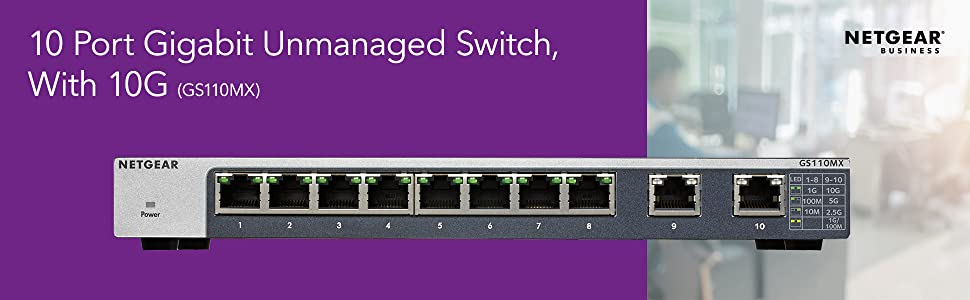10 Port Gigabit Unmanaged Switch With 10G